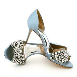 5d3efbb9ff19 women s shoes.  60  80. Badgley Mischka Hansen Embellished Satin Heels